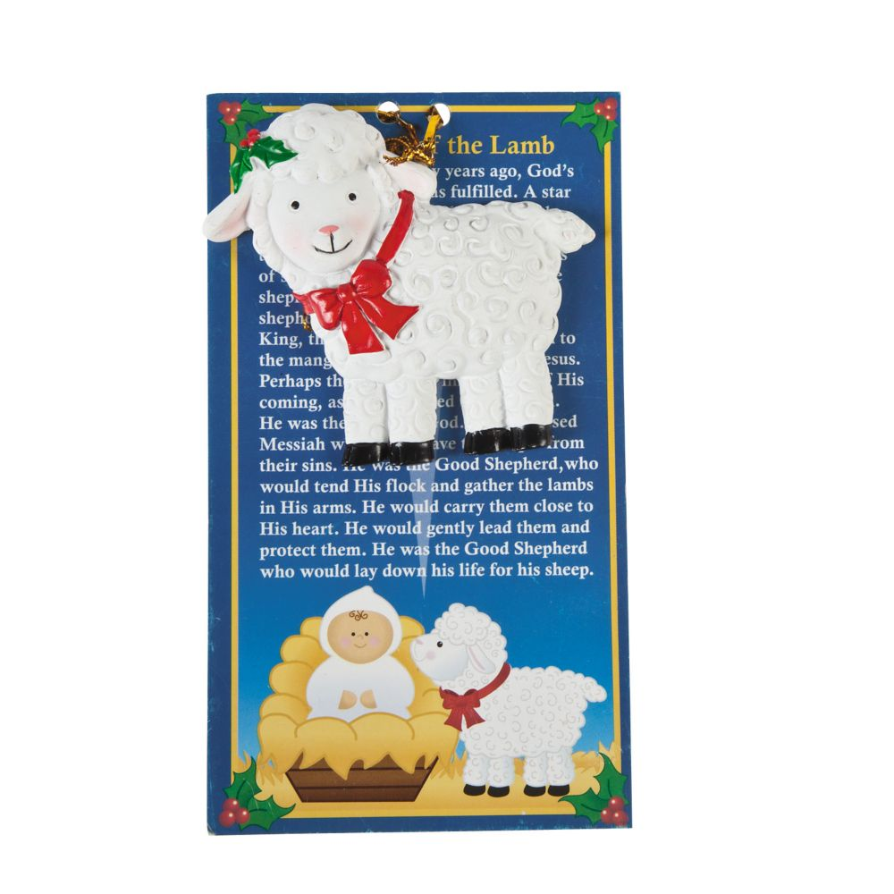 "Legend Of The Christmas Tree Poem: ""Legend Of The Lamb"" Christmas Ornaments With Card White"