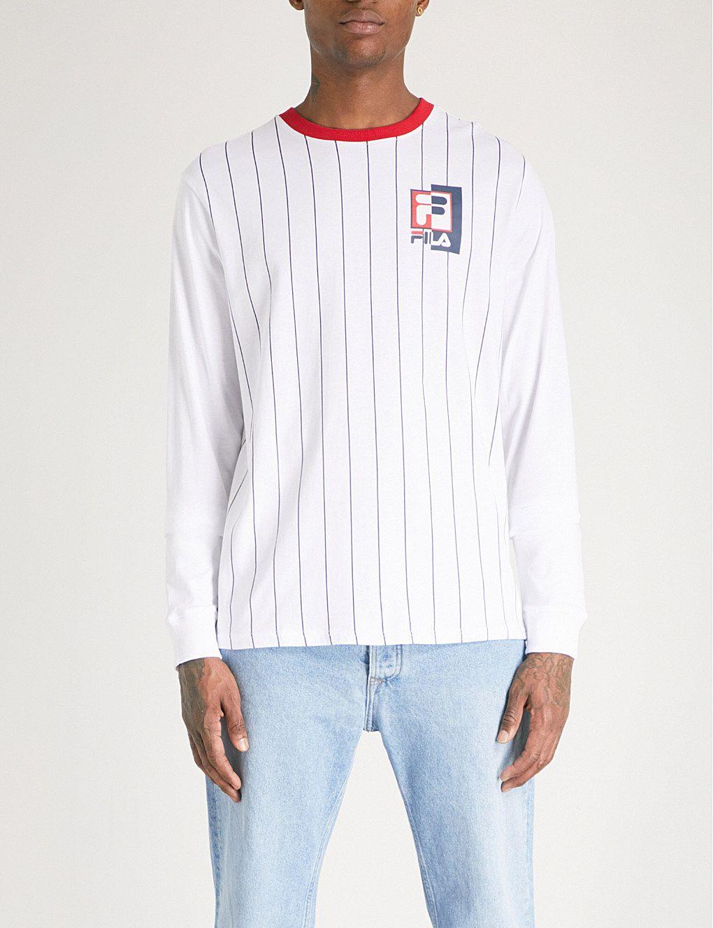 51bdbb9e2446 FILA Striped cotton-jersey top | Trend: Baseball | Mens printed ...