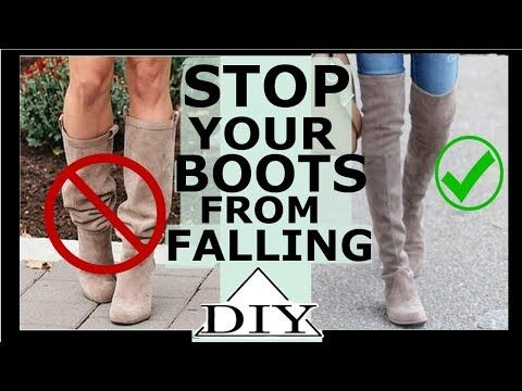 How to stop over the knee boots from falling | SHANiA - YouTube