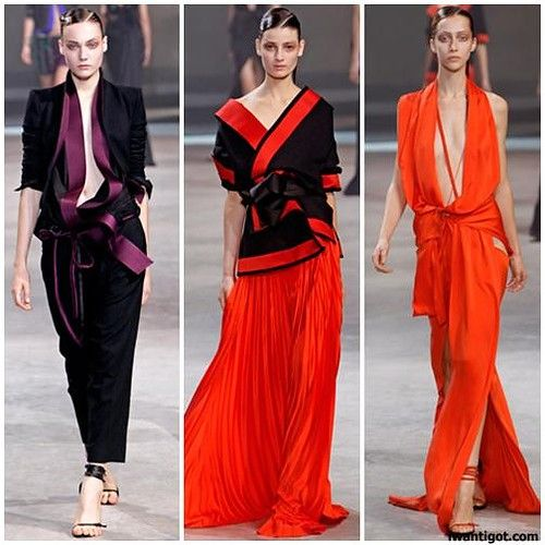 haiderackermann summer fashion trend: asian inspired fashion trend. the  middle dress.