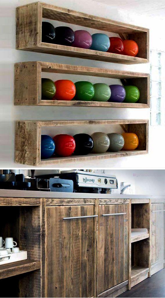pallet wood shelves1 | Decoración con tarimas, Adornos de ...