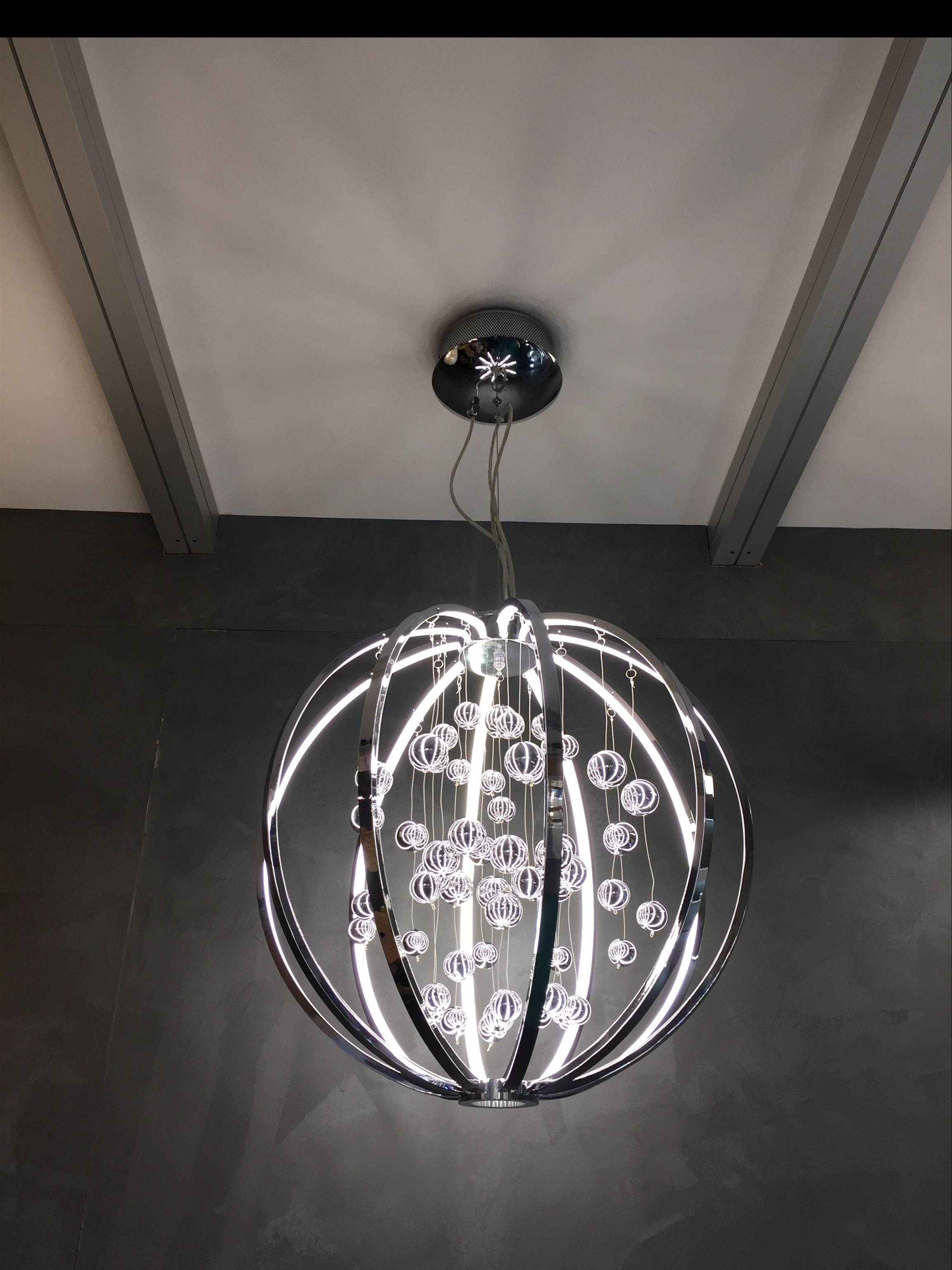 Hanging lamp Imola ceiling chandelier LED ceiling lamp chrom