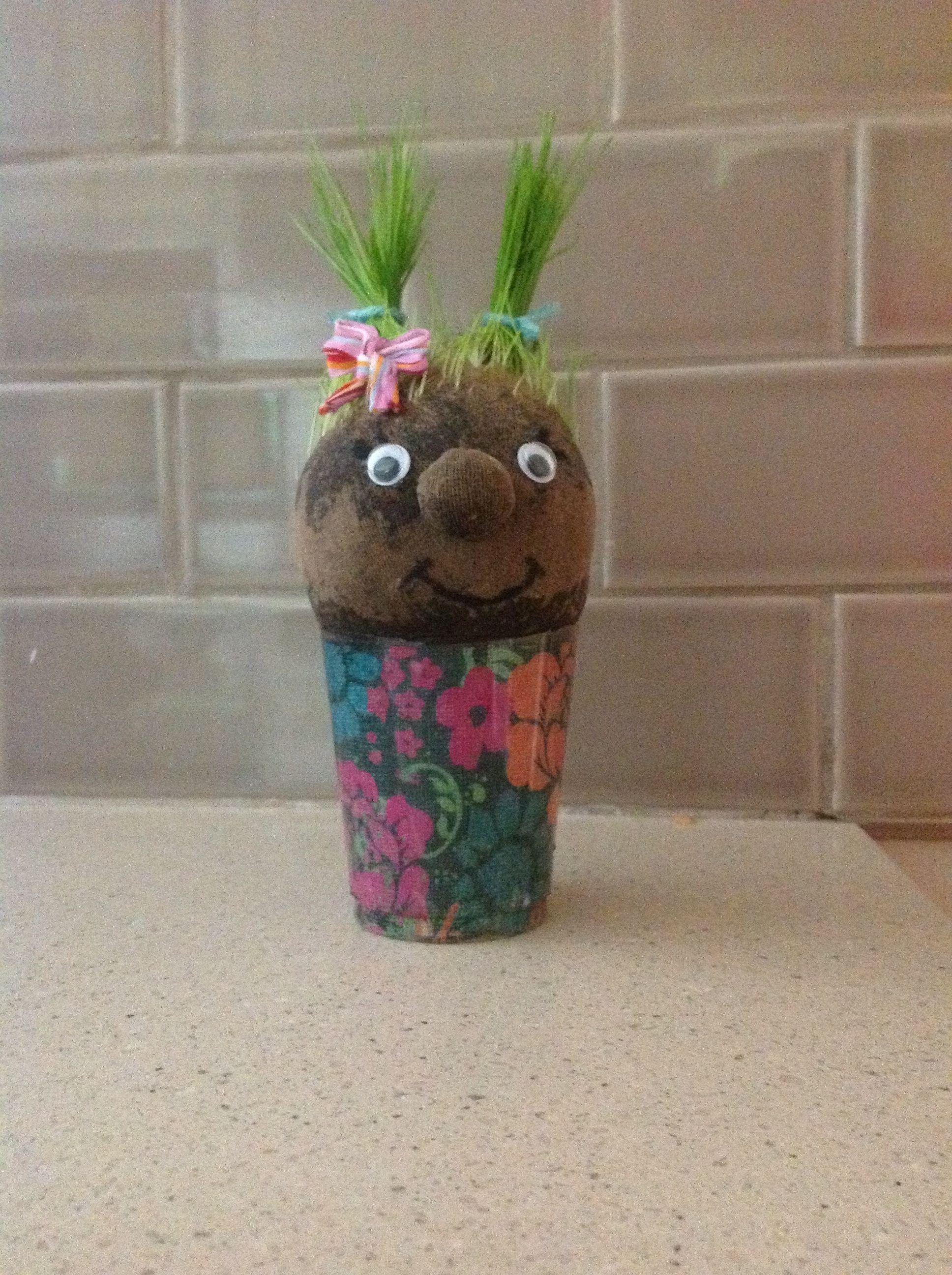 My Grass Head Gracie S Summer Crafts Summer Crafts Crafts