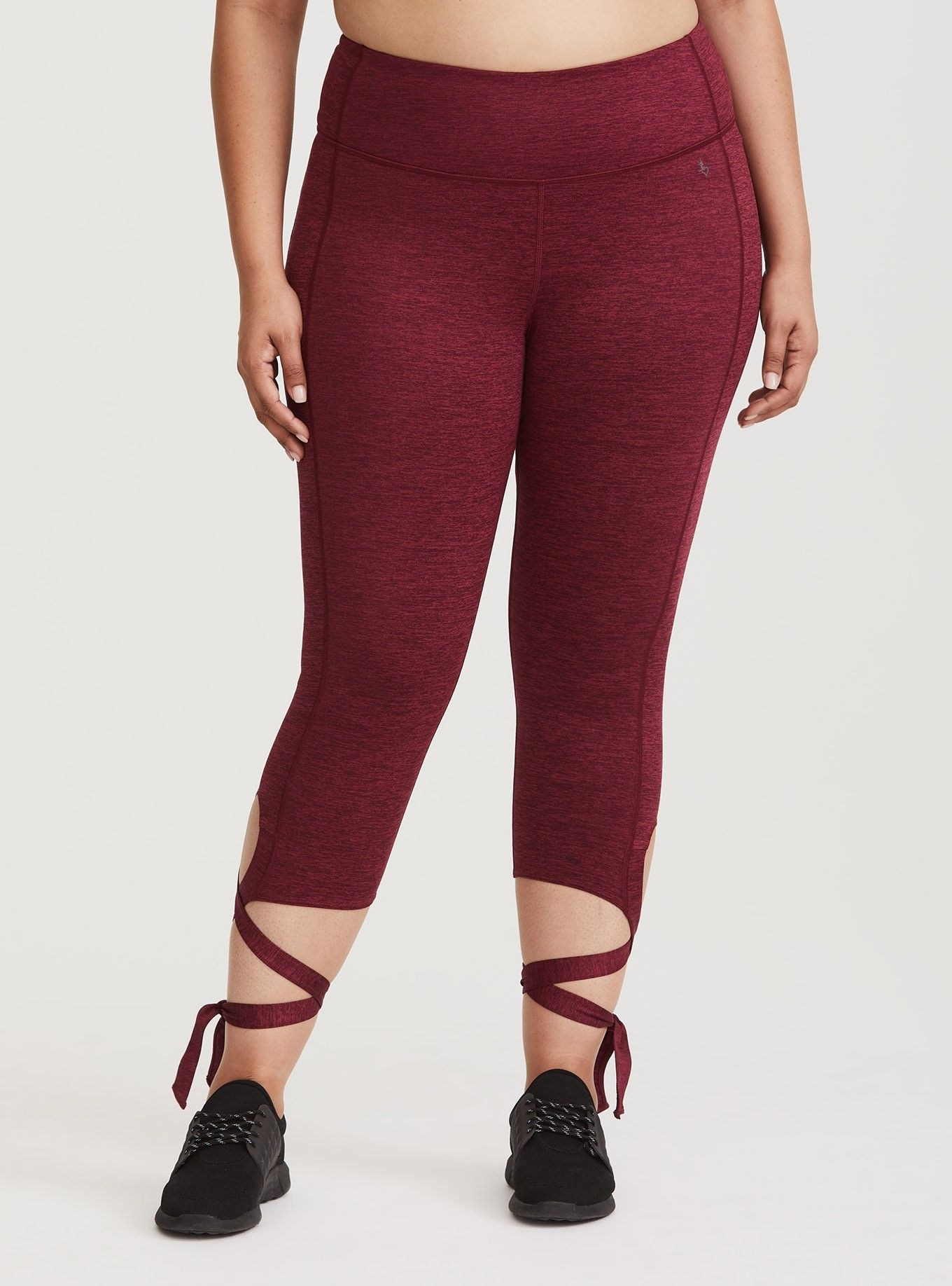 a4496bd85b2 Space Dye Tie Cuff Active Legging - Flirty tie cuffs are a trendy update to  these 4-way stretch