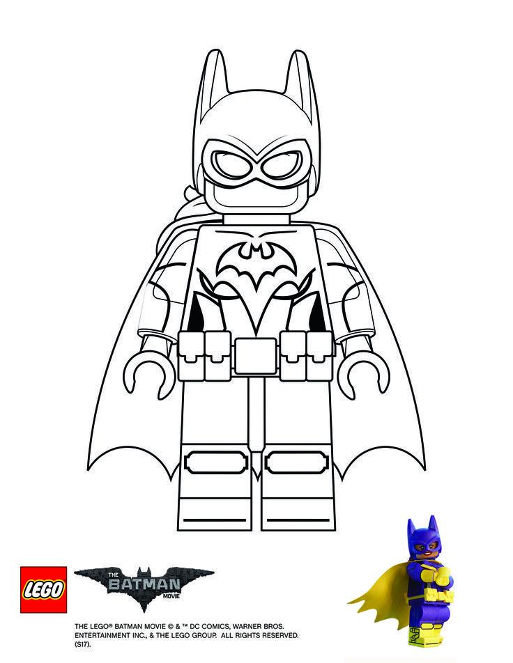 Disegni da colorare LEGO Deadpool e Supergirl! Disegni