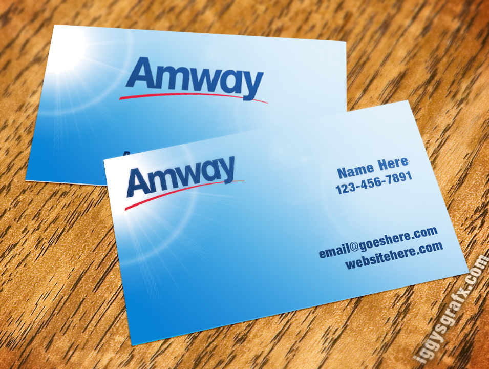 Sky Amway Business Card | Amway Business Cards | Pinterest ...