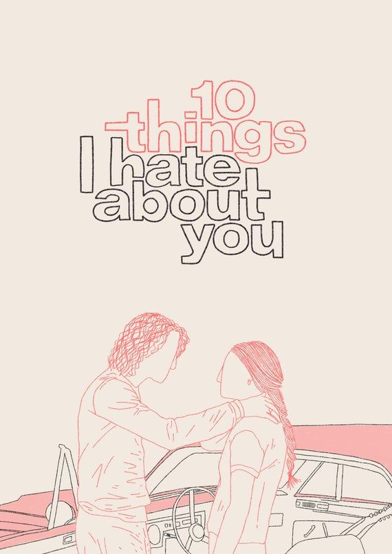 10 Things I Hate About You A4 Movie Poster Print