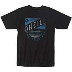O'Neill Mens Emerging Short-Sleeve Shirt, Black, Medium