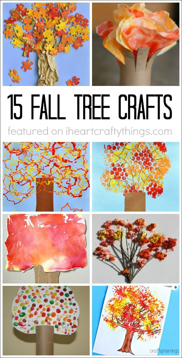 15 Fabulous Fall Tree Crafts falltrees I HEART CRAFTY