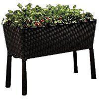 keter easy grow patio garden flower plant planter raised elevated
