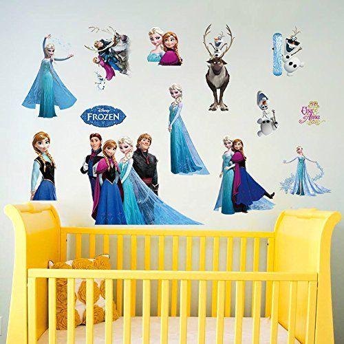 Disney Frozen Kids Wall Sticker Art Mural Decal Gift Removable Decor Elsa Anna