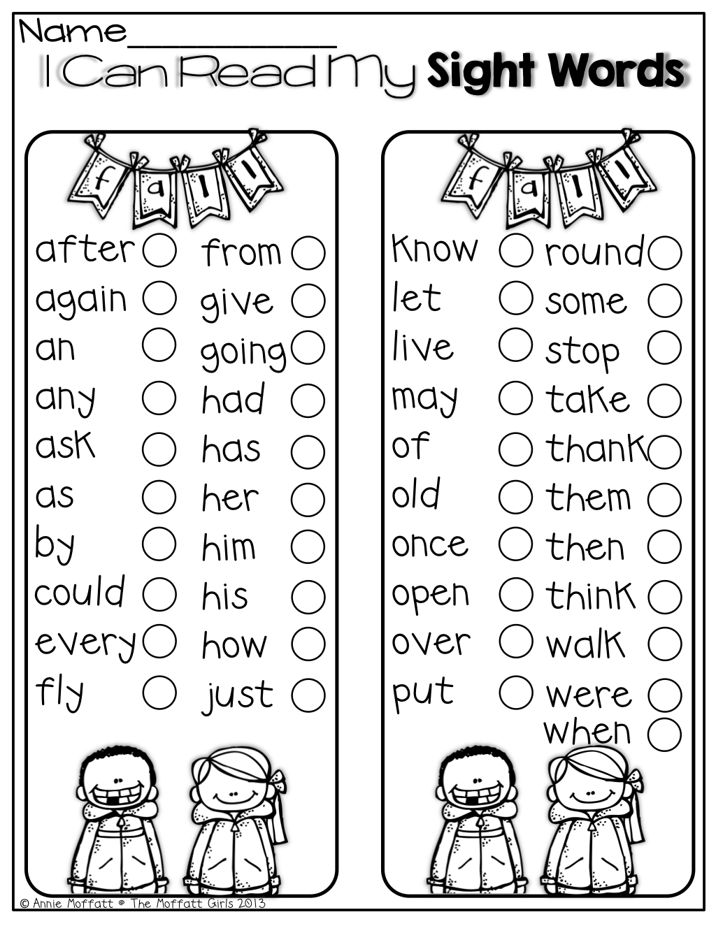 I Can Read My Sight Words Perfect For Keeping Track Of