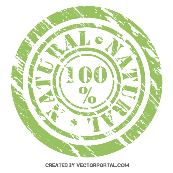 100% Natural Stamp Vector Illustrator | Free Vectors | Free vector
