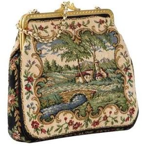 Vintage Small Tapestry Bag