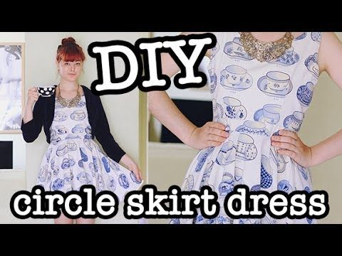 A great youtube tutorial for this DIY Circle Skirt Dress (aka Skater Dress). Makes it look easy! :-/