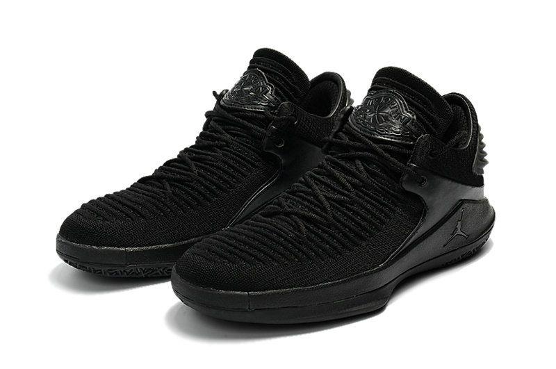 863998fb54039a Original Nike Air Jordan 32 Low Triple Black Men s Basketball Shoes ...