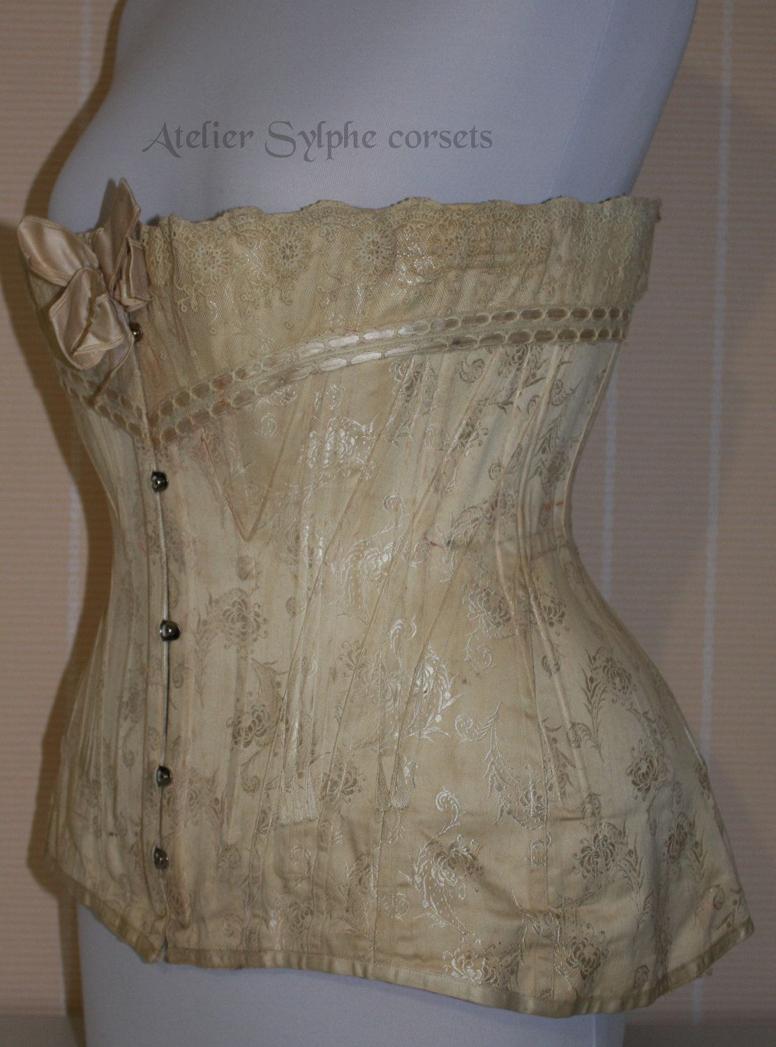 REF T corset pattern drafted from antique edwardian \