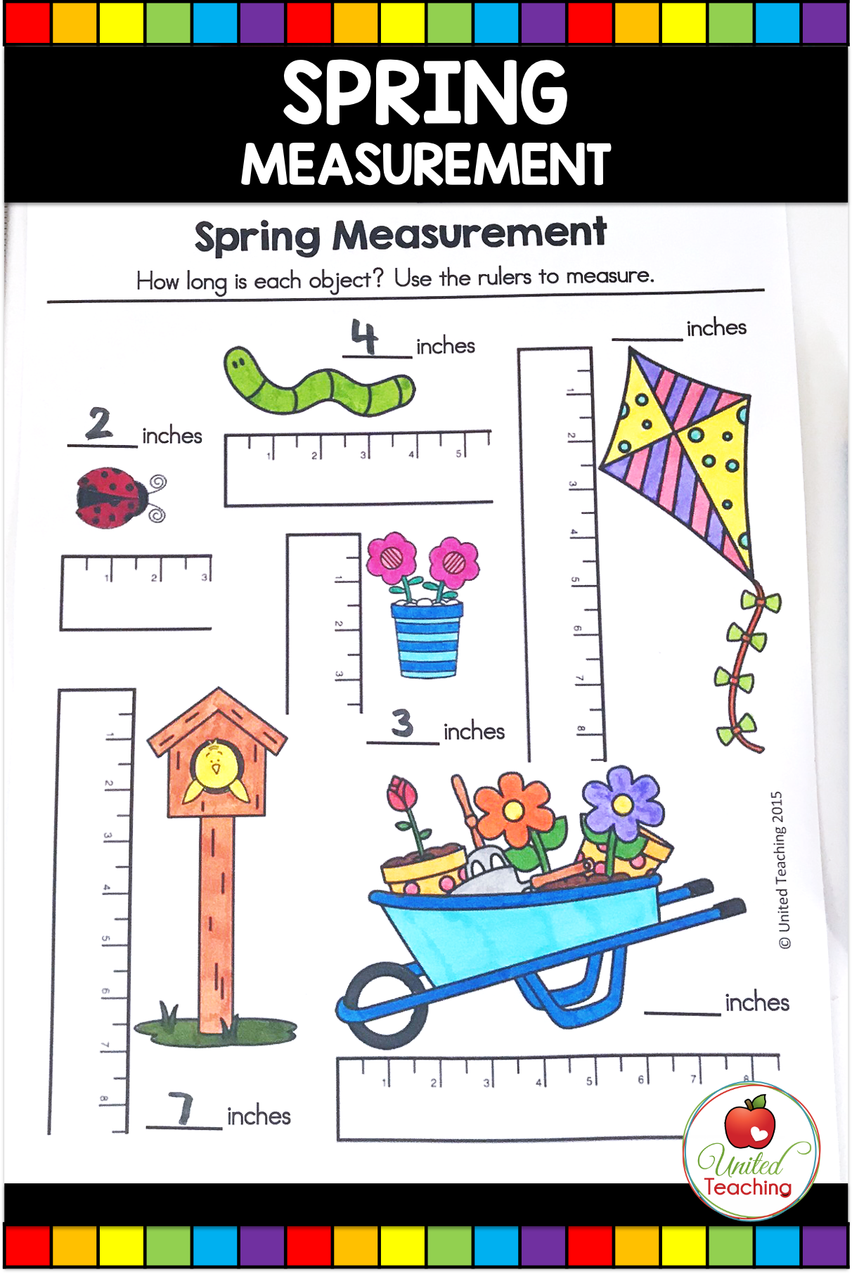 Spring Math And Literacy Activities 1st Grade In