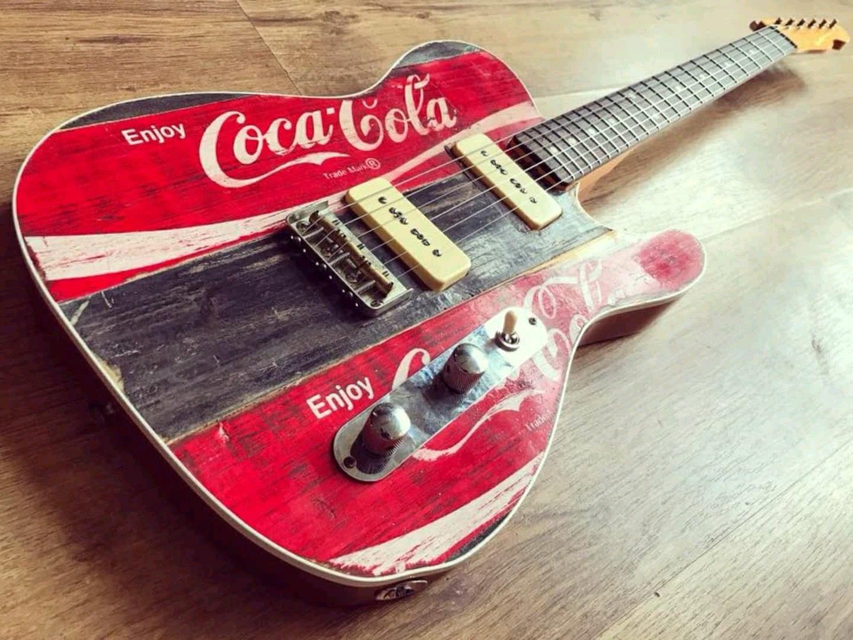 Coca Cola Guitar Guitars Electric Pinterest Cool Wiring 101 Basic Electronics Mylespaulcom Art Room Music Violin