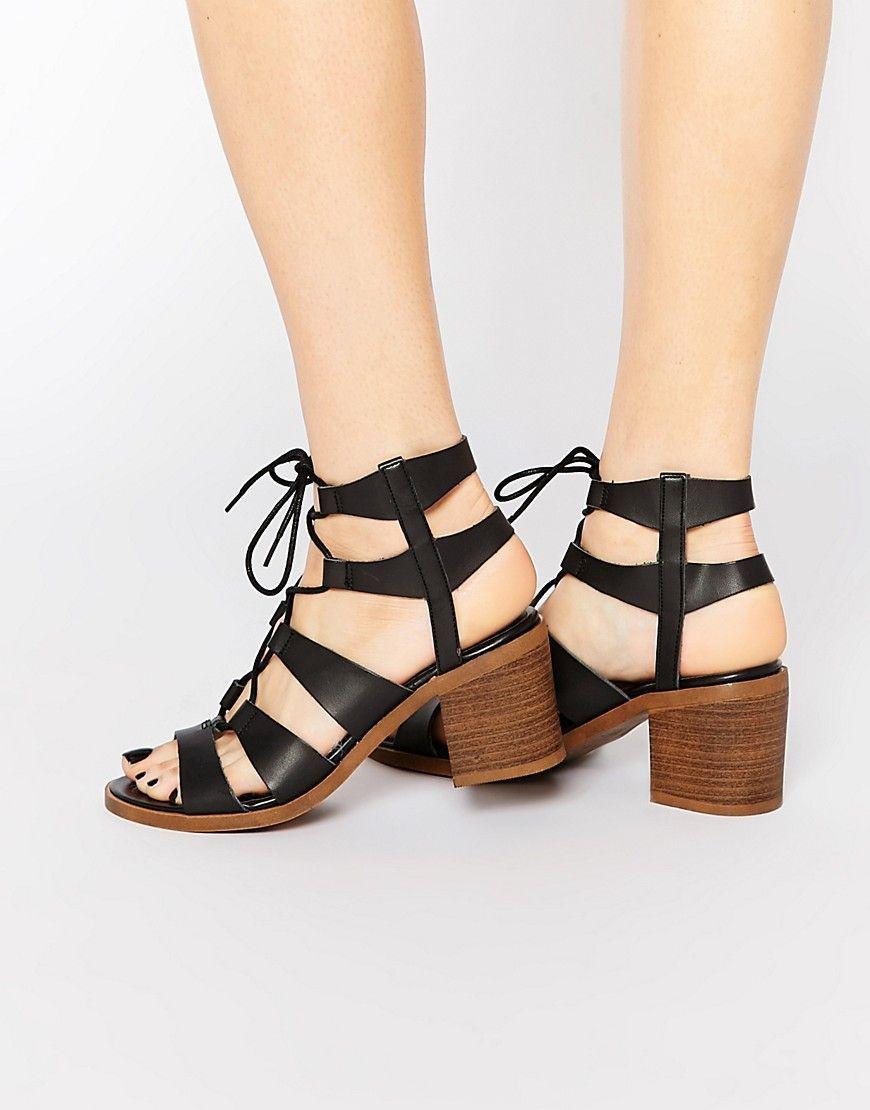 Image 1 of New Look Ghillie Block Heel Sandal
