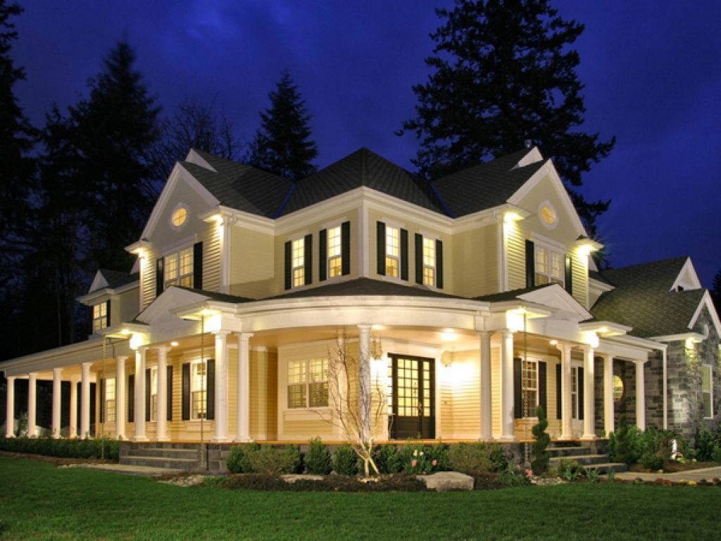 Craftsman Style Manufactured Wrap Around Porch Craftman Homes Home Ideas Arched Fascia Gable Brackets Knowhunger Country House Plans My Dream Home House Exterior
