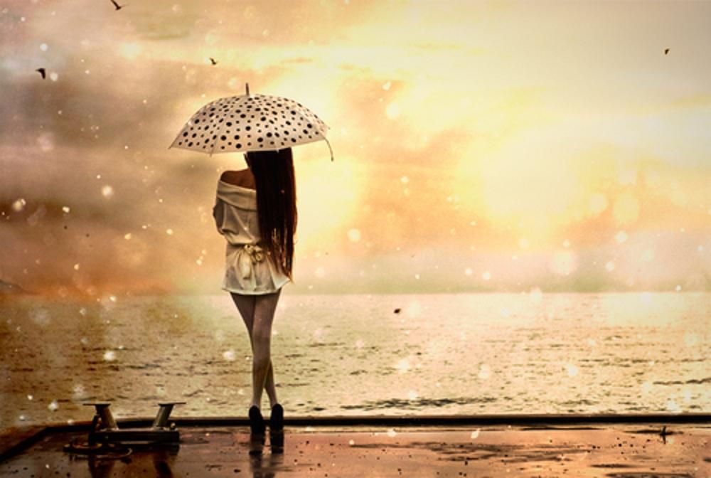 Free Images Umbrellas In Rain Gold Model Ocean Photo