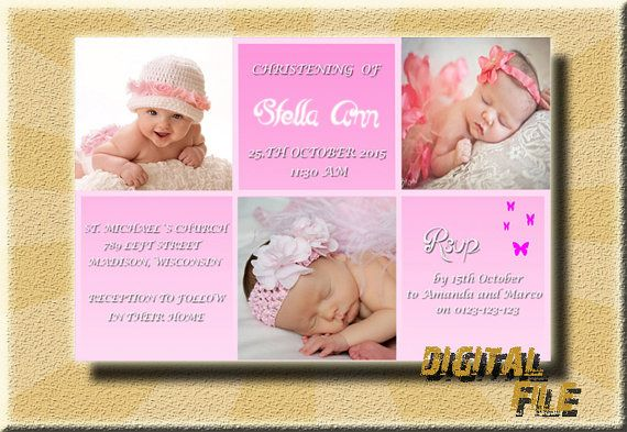 Christening Invitation Christening Girl by DigitalitemsShop