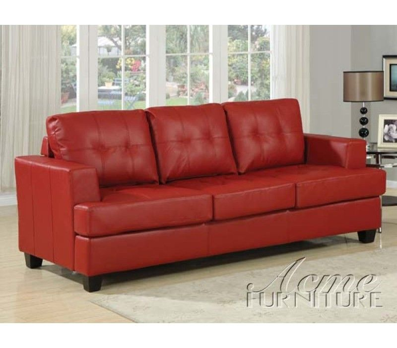 Leather Queen Sleeper Sofa Bed Modern Design