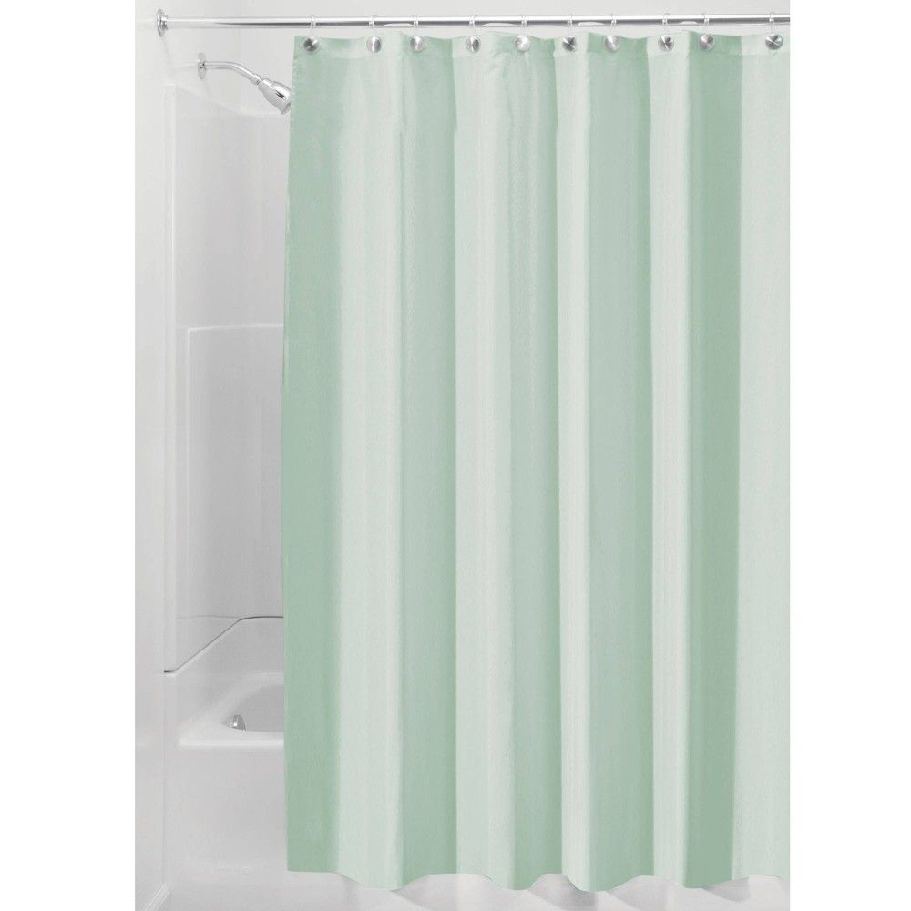 Set Of 2 Shower Curtain Liners Seafoam Green Idesign Green Shower Curtains Fabric Shower Curtains Vintage Shower Curtains