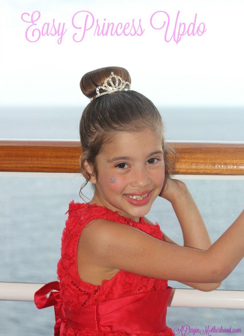 easy princess updo for kids | family: disney | disney