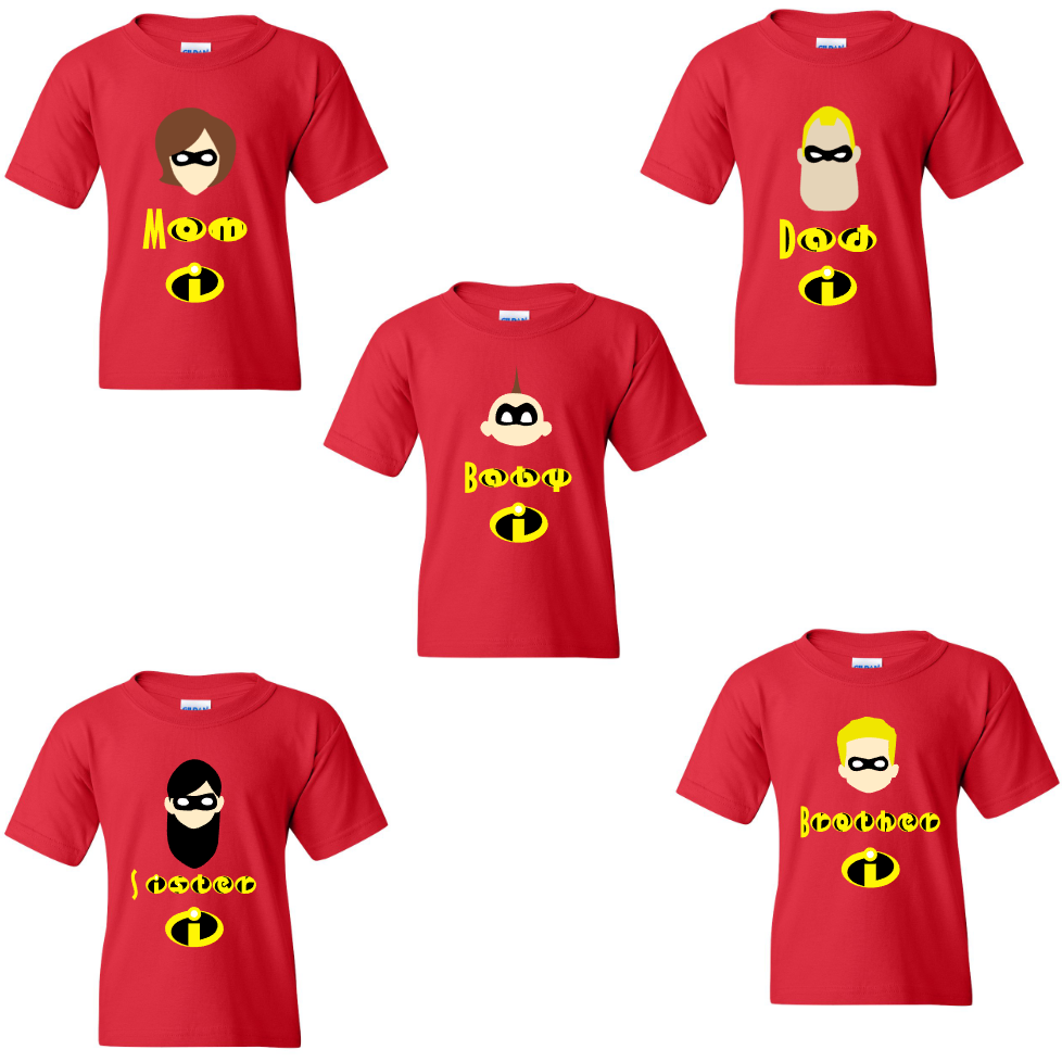 2d86e431fbe42 Custom Disney Incredibles Family Costumes Shirts | fiesta temática ...
