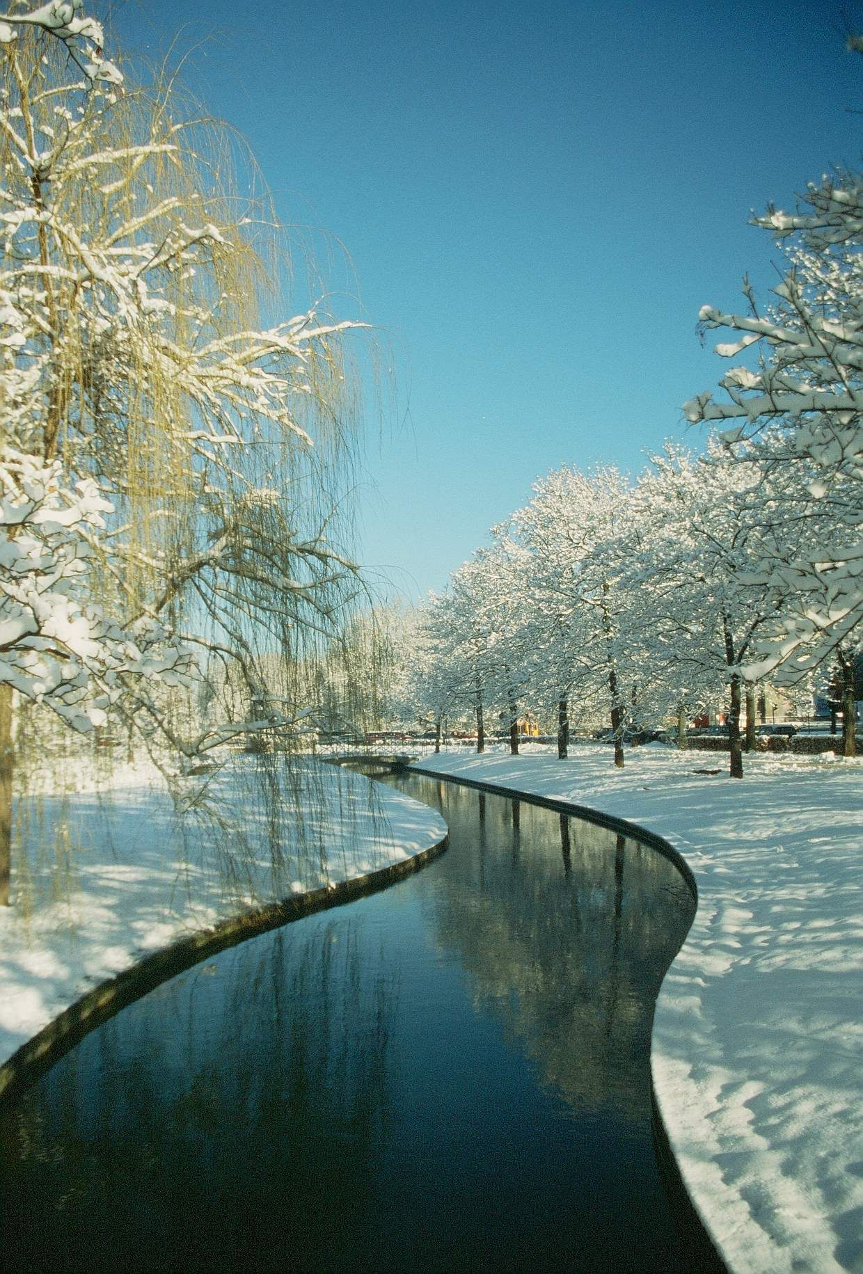 English Garden Munich One Of The Most Beautiful Places During Summer And Apparently During Winter Too Most Beautiful Places English Garden Beautiful Places