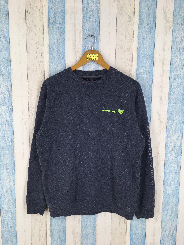 f7e0289c72b38 New Balance 80's Vintage Running Sports Crewneck Sweatshirt Grey Sweater  Size L Streetwear