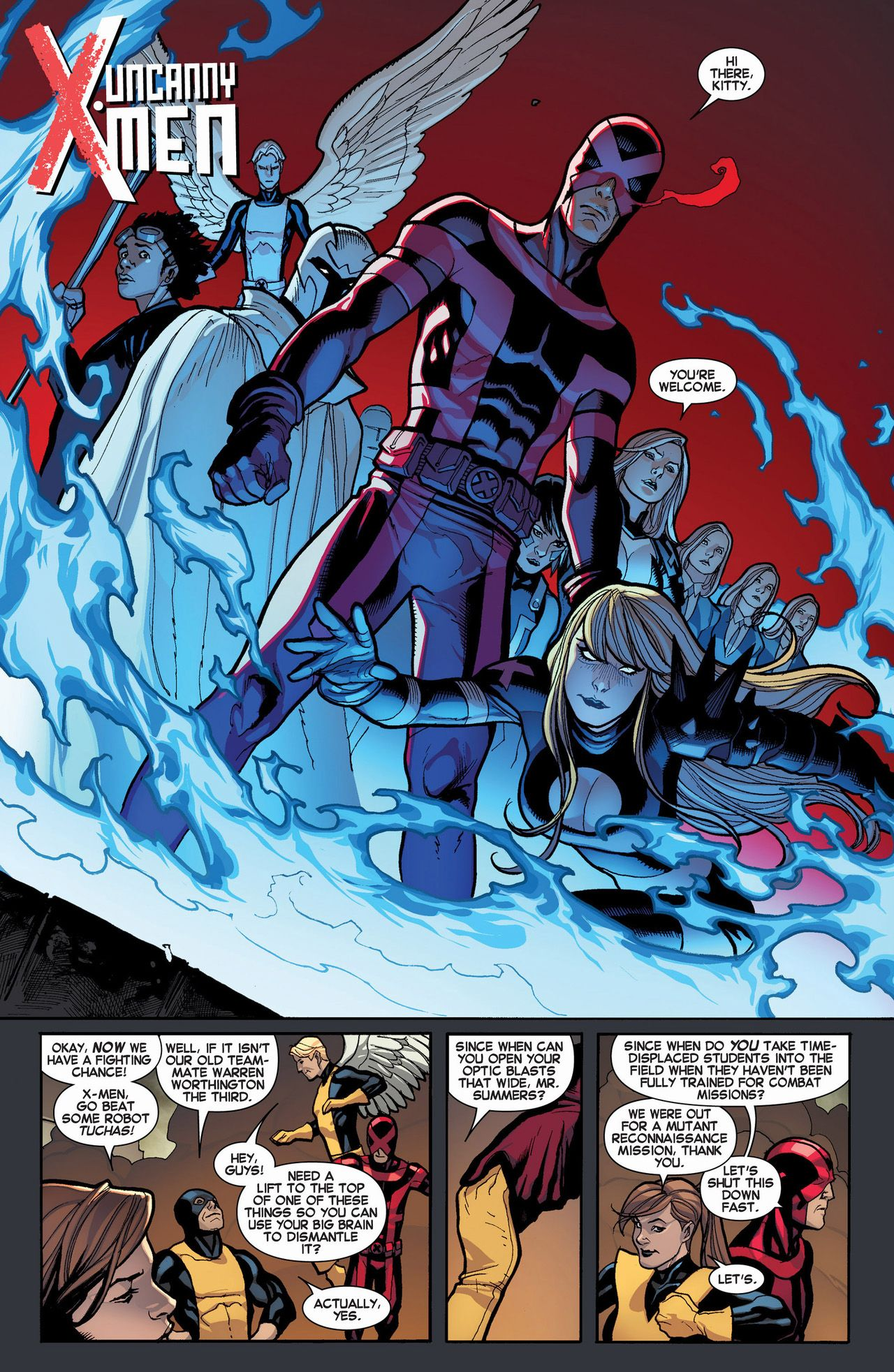 Cyclops Helps Out The Original 5 X Men Http Comicnewbies Com 2014 11 30 Uncanny X Men Helps Out The Original 5 X Men Xmen Comics Cyclops X Men Comics