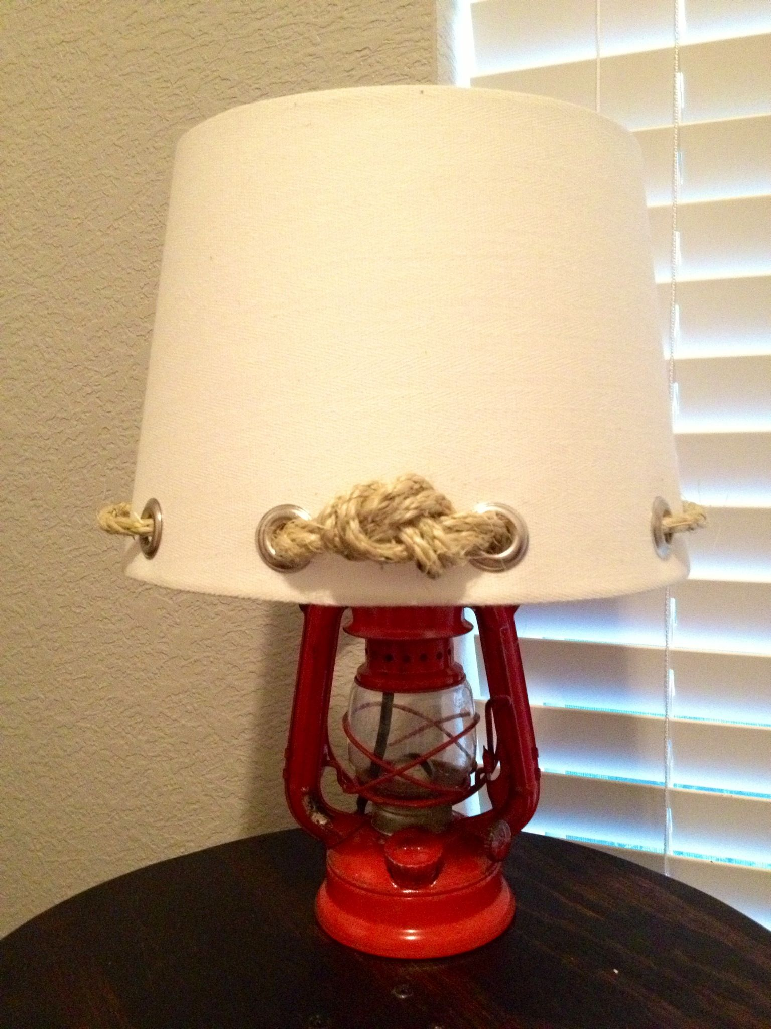 Nautical Lampshade Diy Lamp Bathroom Decor Lamp