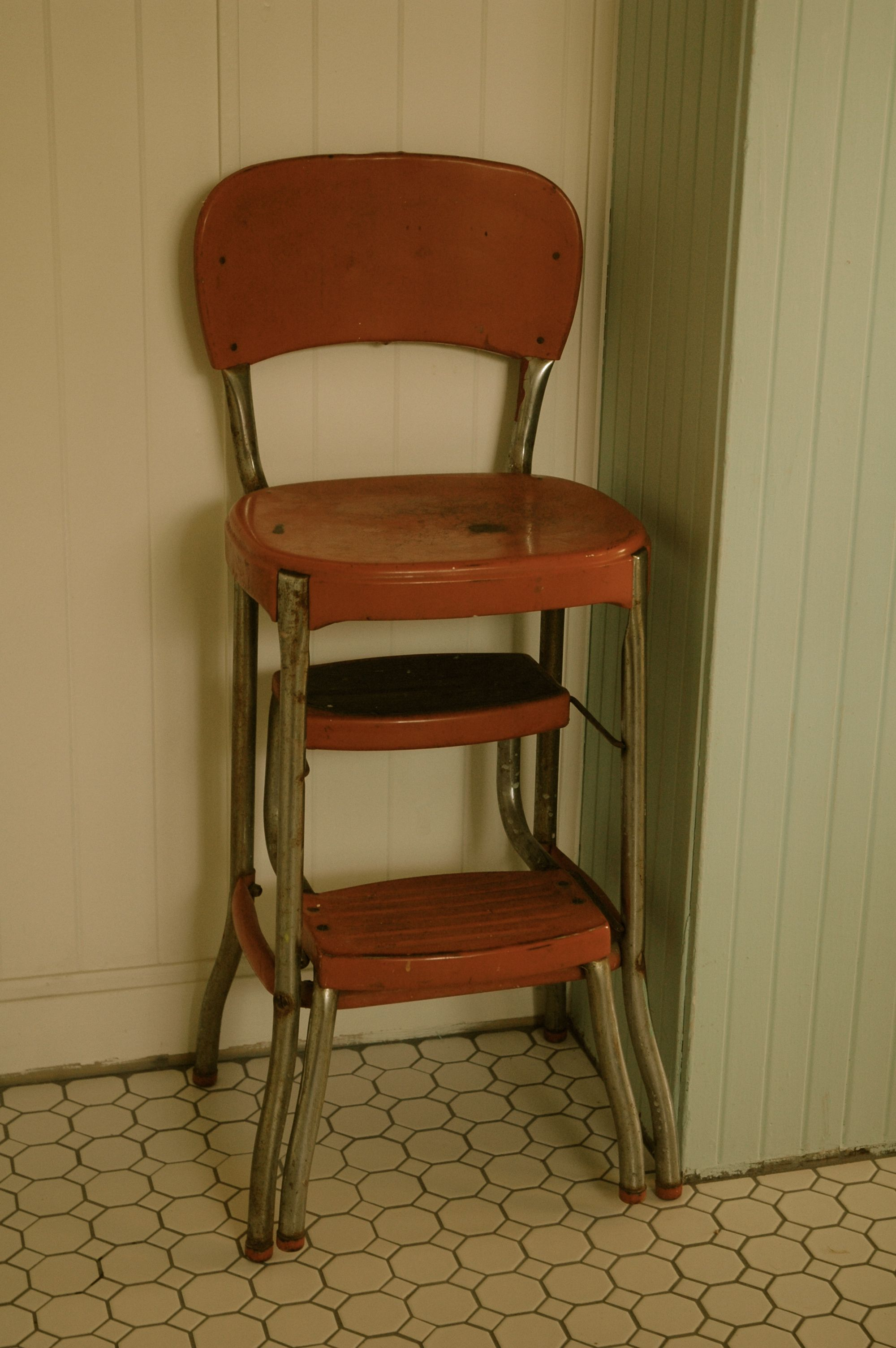Kitchen High Chairs Erica 39s Baby High Chair Was A Antigue Step Stool Painted