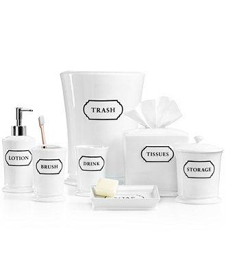 Martha Stewart Collection Porcelain Words Frame Bath ...
