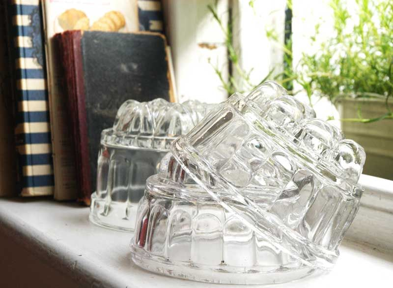 Vintage Glass Jelly Moulds Perfect For Creating A Tea Time Treat