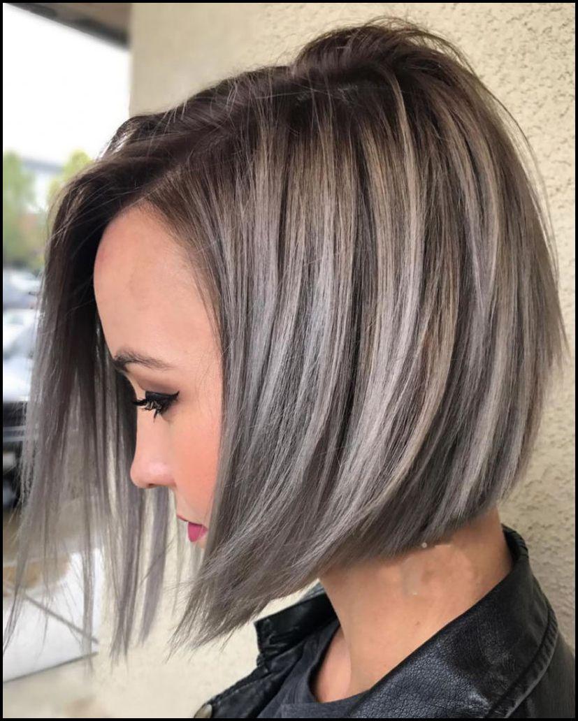 30+ Amazing Asymmetrical Bobs Hairstyles 2018 Gray hair