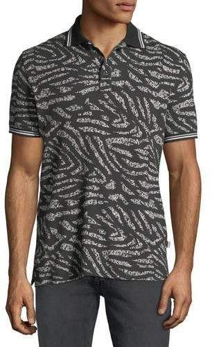 dabcace22 Men's Tiger-Stripe Polo Shirt | Products | Striped polo shirt, Polo ...