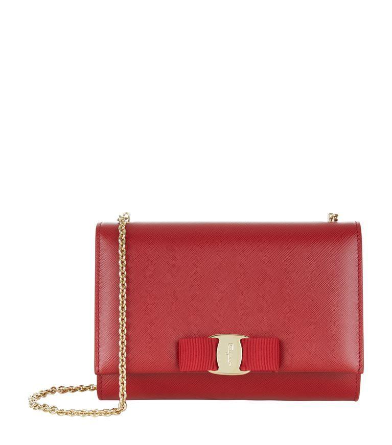 Vara red leather shoulder bag Salvatore Ferragamo 4Ghy6Stnf