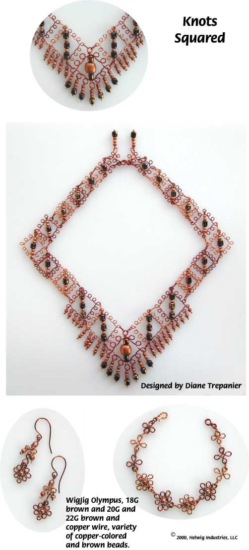 Knots Squared Wire and Beads Necklace Jewelry Making Project made ...