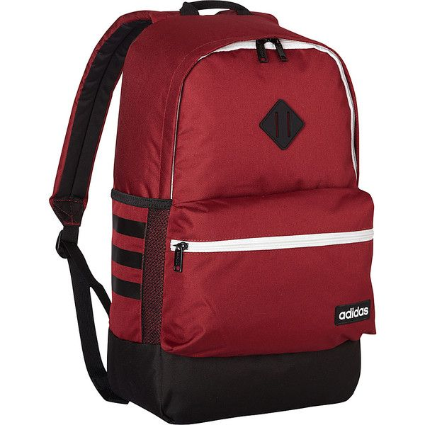 4a3456b11bc2 adidas Classic 3s Backpack - Collegiate Burgundy Black Neo White -... ( 36)  ❤ liked on Polyvore featuring bags
