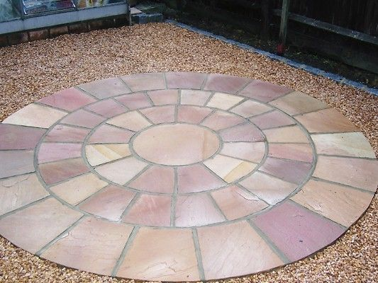 Add A Splash Of Colour With A Pink Sandstone Circle Ced Stone Inspiring Beautiful Landscapes Private Garden Garden Design Planting Flowers