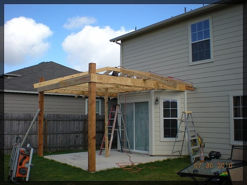 Patio Roof Design With Job In Progress Framing Out Classic Hip
