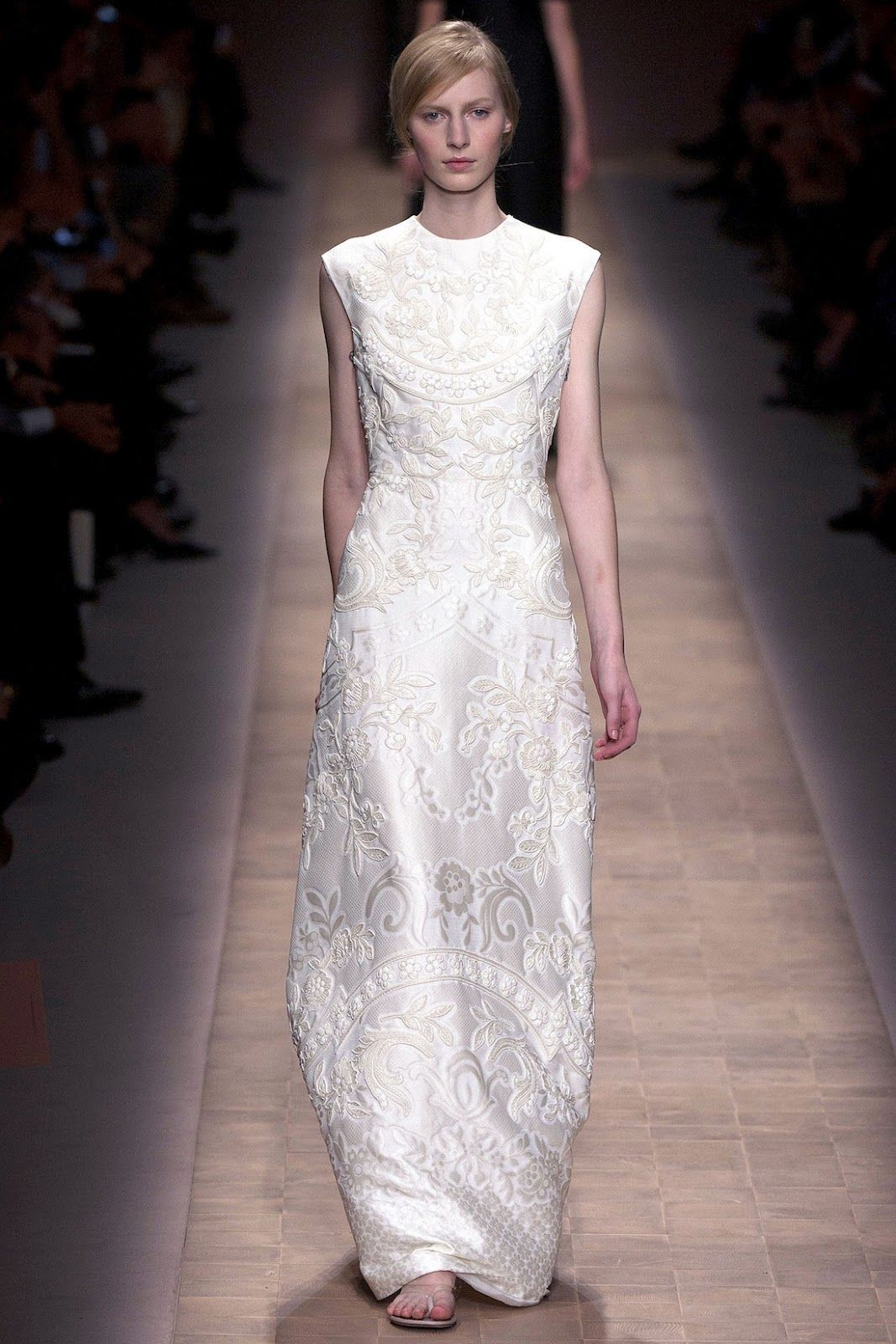 Long dresses for summer wedding  vvv valentino   love to wear white  Pinterest  Valentino
