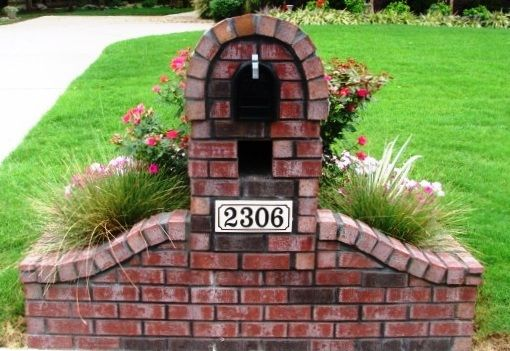 Pin On Brick Mail Boxes