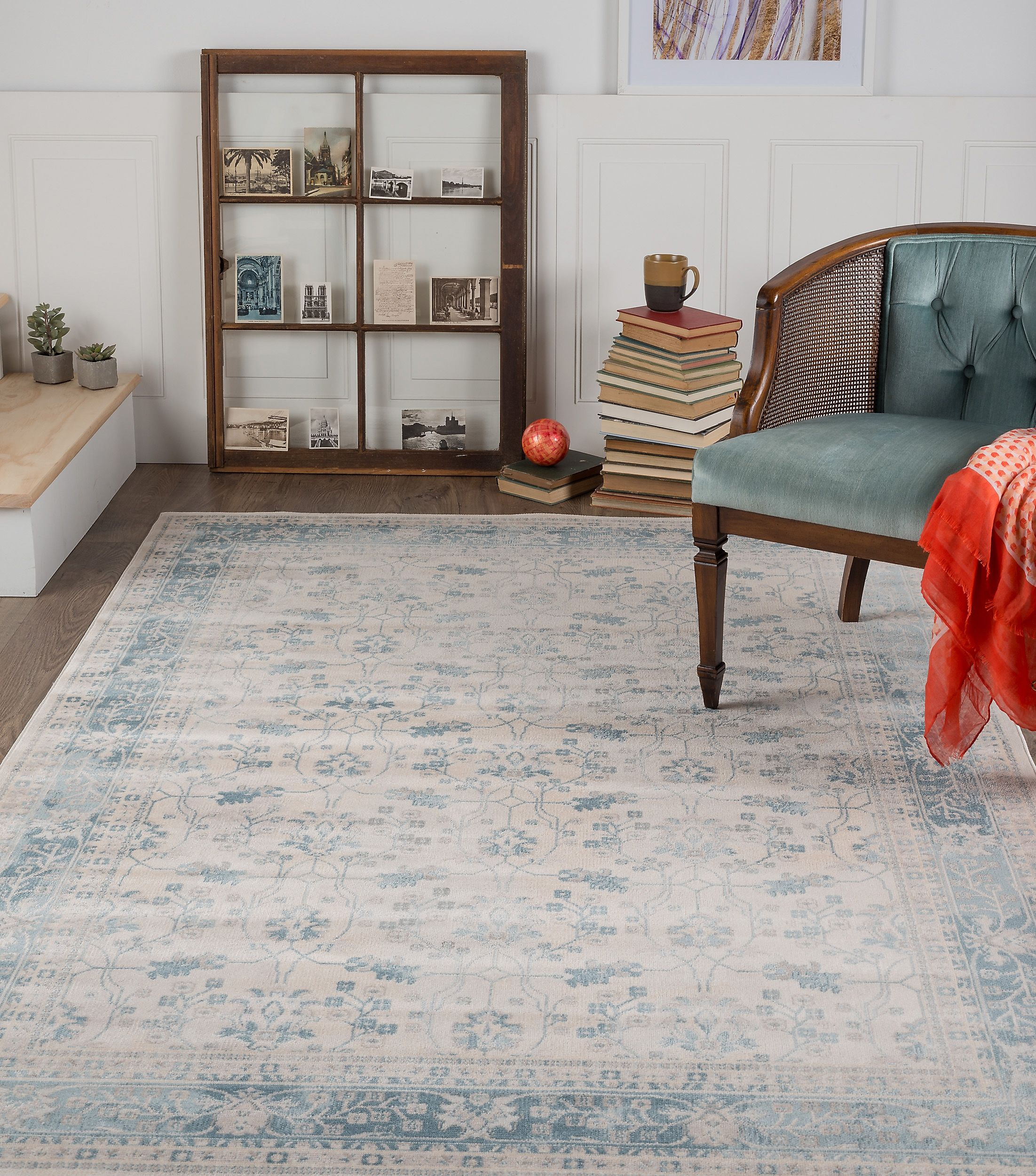 Tayse Rugs Ambiance Hanson Floral Area Rug - 7'8'' x 10'3'', Beige