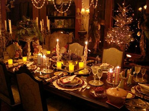 Christmas Eve Dinner Table Decorations Tablescapes Table