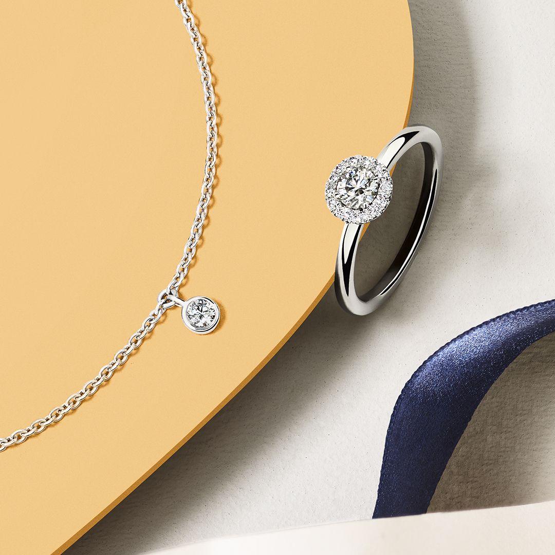 fdf2b34c1ecc08 My First De Beers one diamond bracelet and My First De Beers Aura ring